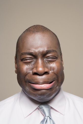 Black Man Crying
