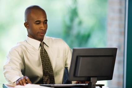 Black Man Writing