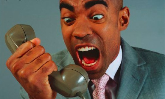 Black Man Yelling