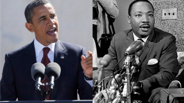 President Obama and Dr. King