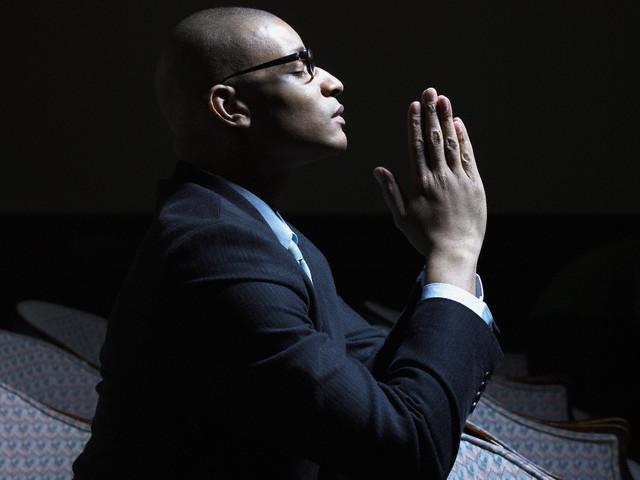 Praying Black Man