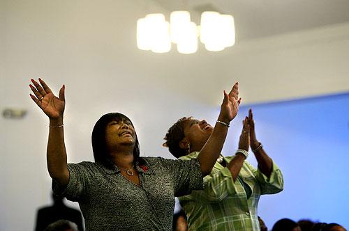 Black women in church