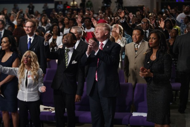 Trump Black Church