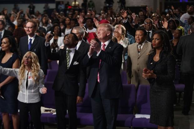 Trump Black Church
