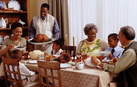 Black People Eating at Kitchen Table